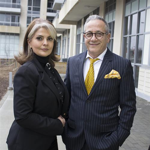 Behnaz Samavat and Ebi Nouri